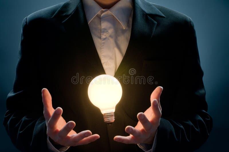 有启发性的电灯泡 库存图片