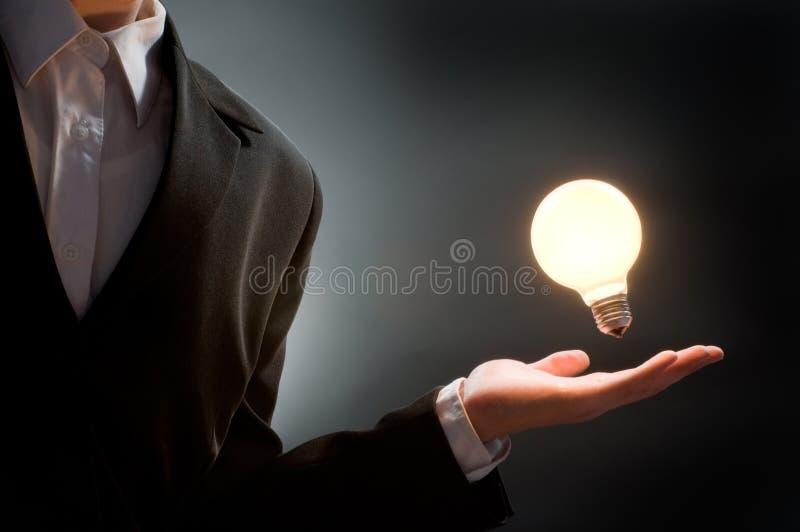 有启发性的电灯泡 库存照片