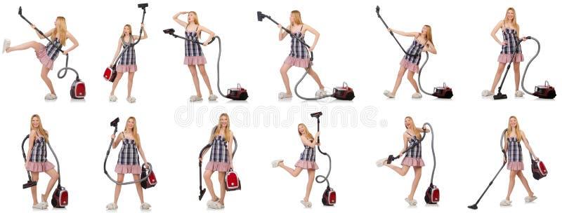 Download 有吸尘器的少妇在白色 库存图片. 图片 包括有 有吸引力的, 洁净, 综合, 国内, 真空吸尘器, 查出 - 72363289