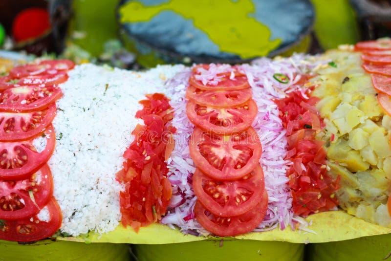 有吸引力印度食物chaat的masala 免版税库存图片
