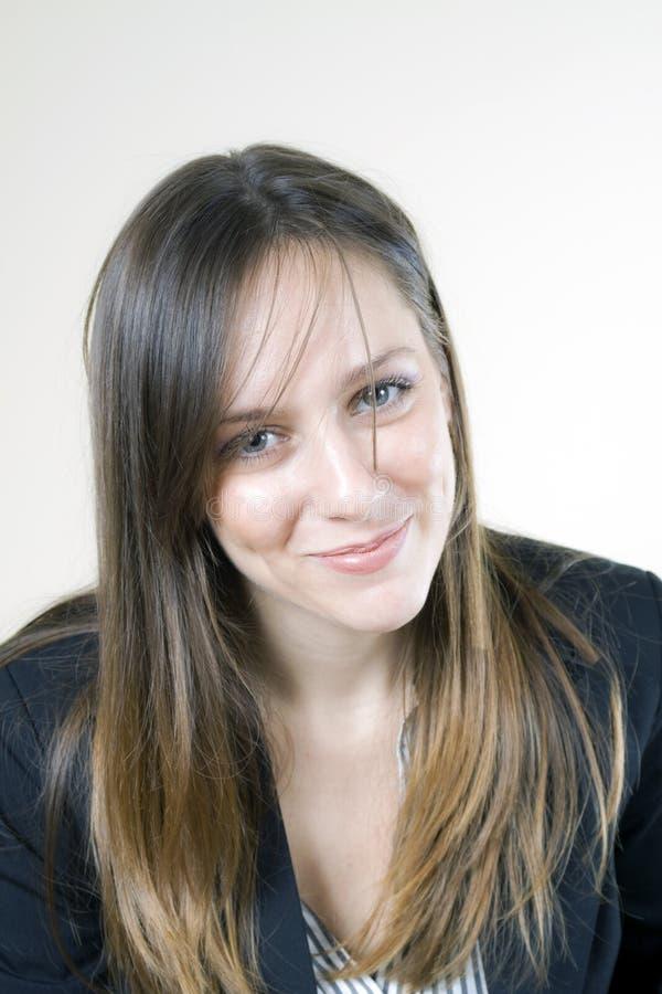 有吸引力女孩微笑 免版税库存图片
