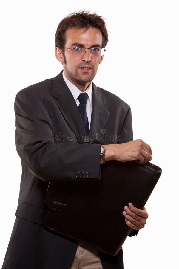 有吸引力的企业白种人人诉讼年轻人 库存照片