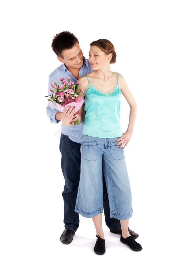 有吸引力的偶然夫妇爱 免版税库存照片