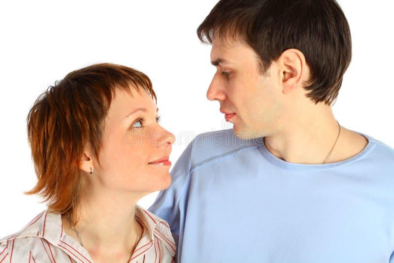有吸引力的夫妇供以人员纵向妇女 免版税库存照片