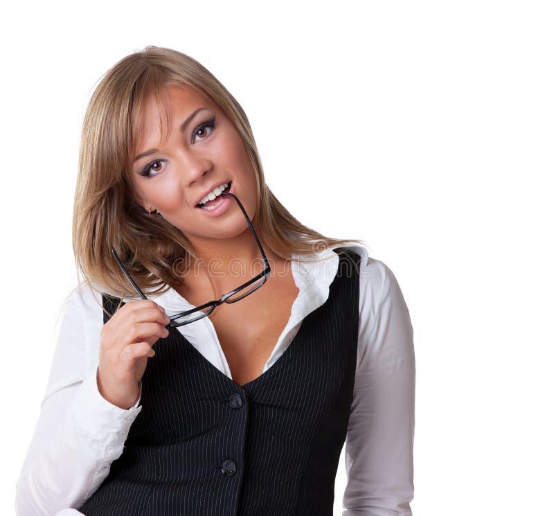 有吸引力的女商人年轻人 库存照片