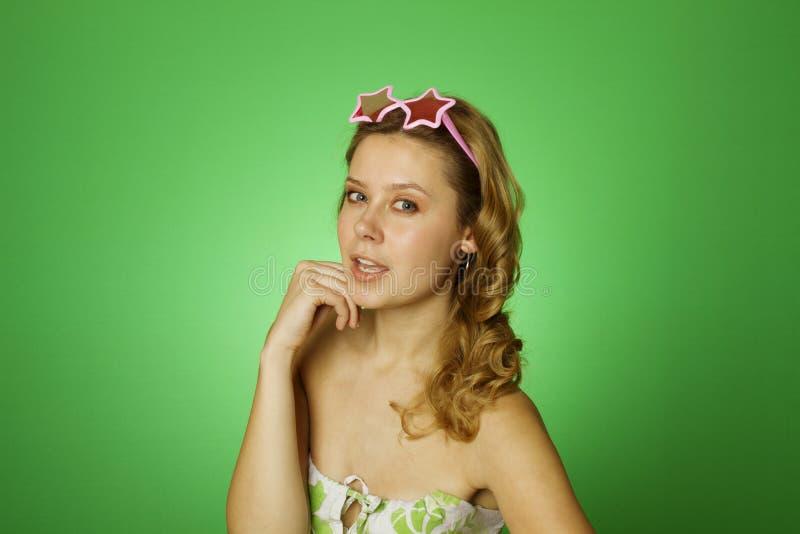 有吸引力的女孩星形 图库摄影