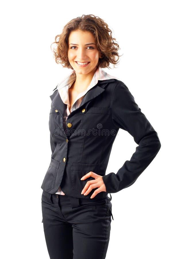 有吸引力的女实业家年轻人 免版税库存照片