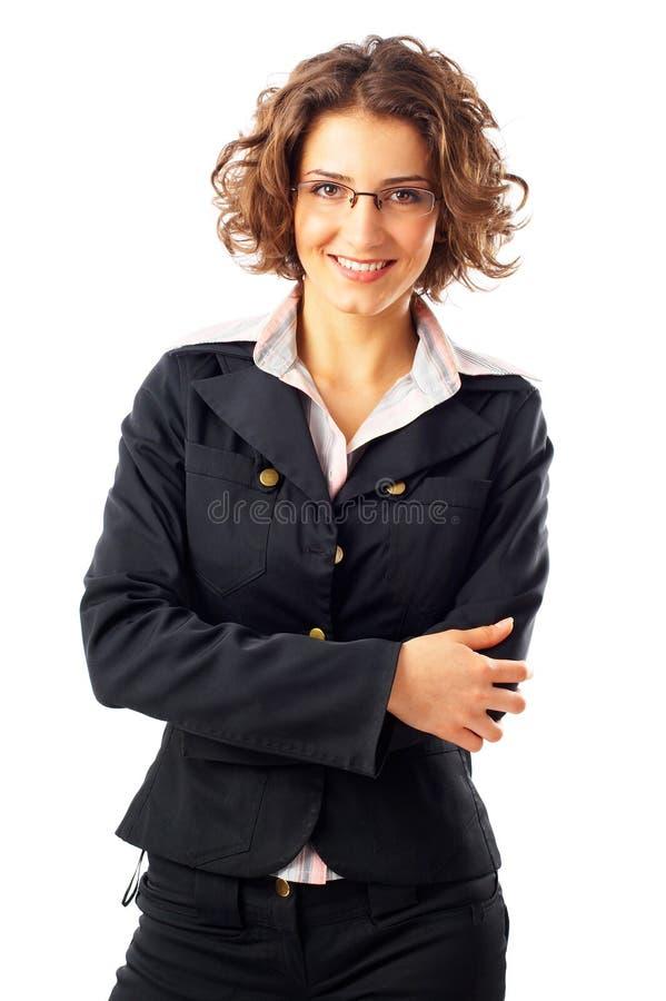 有吸引力的女实业家年轻人 免版税库存图片
