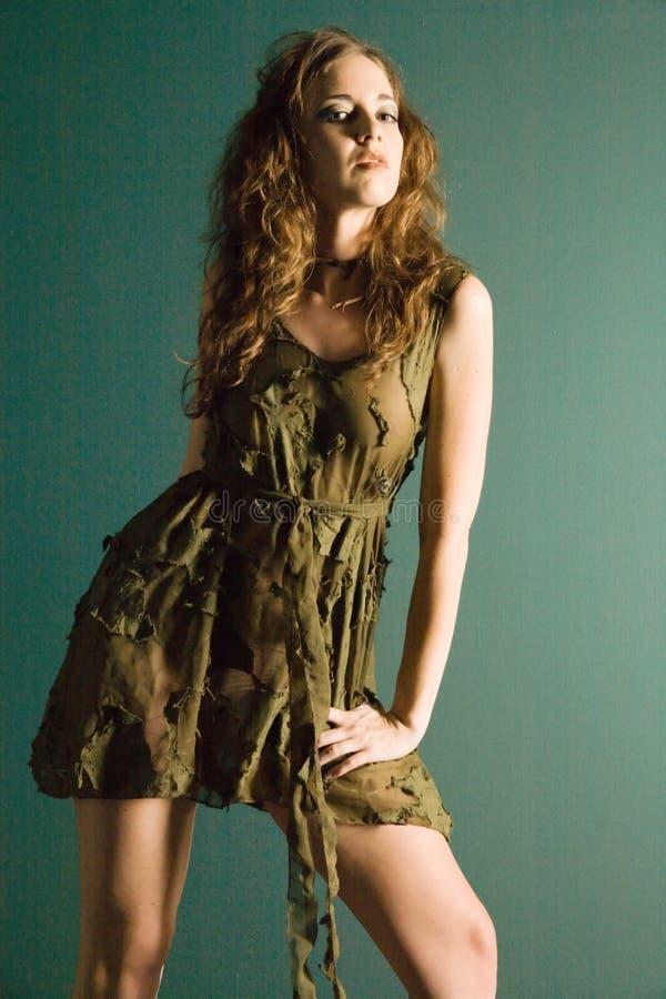 有吸引力的女装设计礼服设计年轻人 库存照片