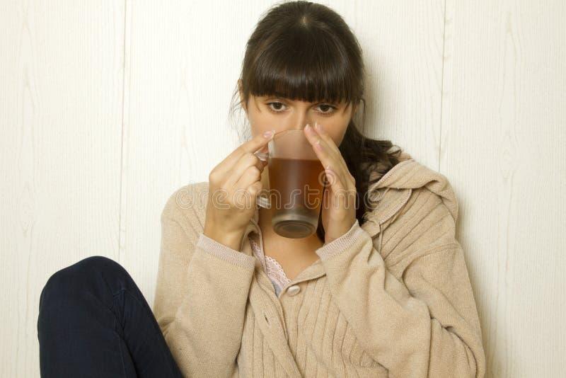 有吸引力的家庭妇女年轻人 免版税库存照片