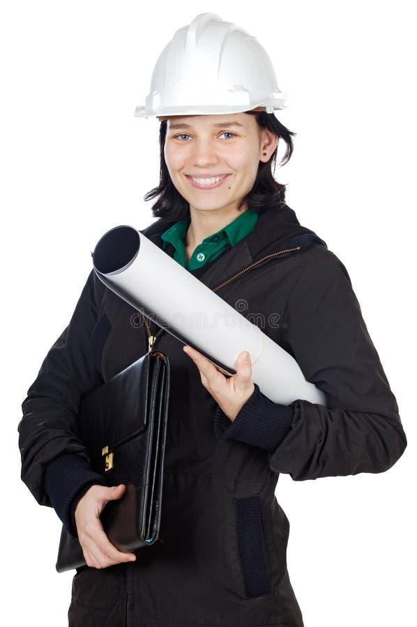 有吸引力的工程师年轻人 免版税库存照片