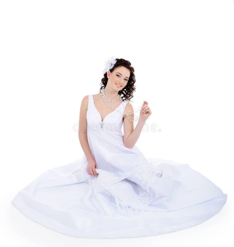有吸引力的新娘年轻人 免版税库存图片