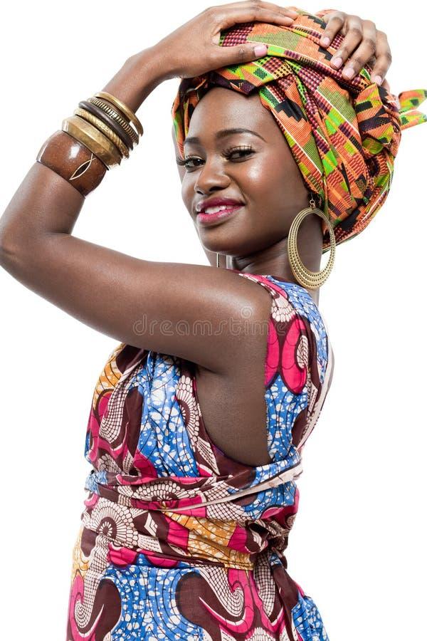 有吸引力的新非洲时装模特儿。 库存照片