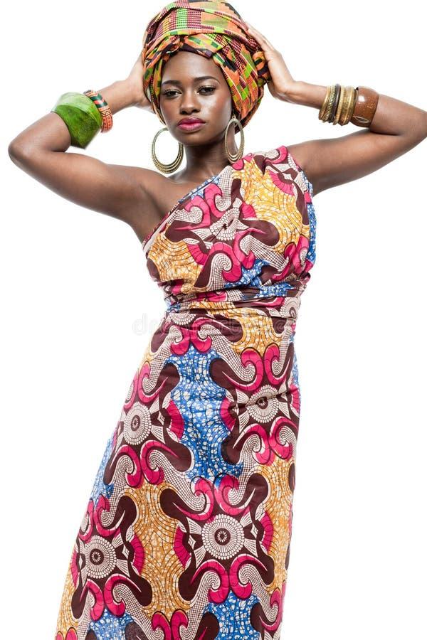 有吸引力的新非洲时装模特儿。 免版税库存照片