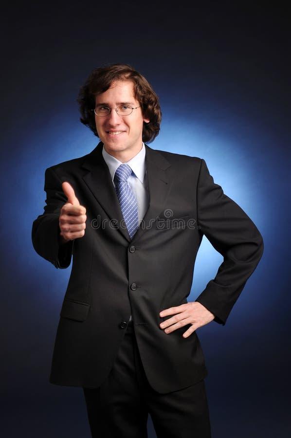 有吸引力的生意人纵向 免版税库存照片