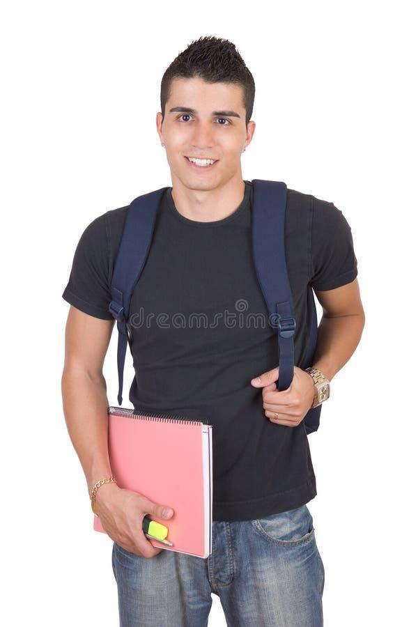 有吸引力的男学生年轻人 免版税库存图片