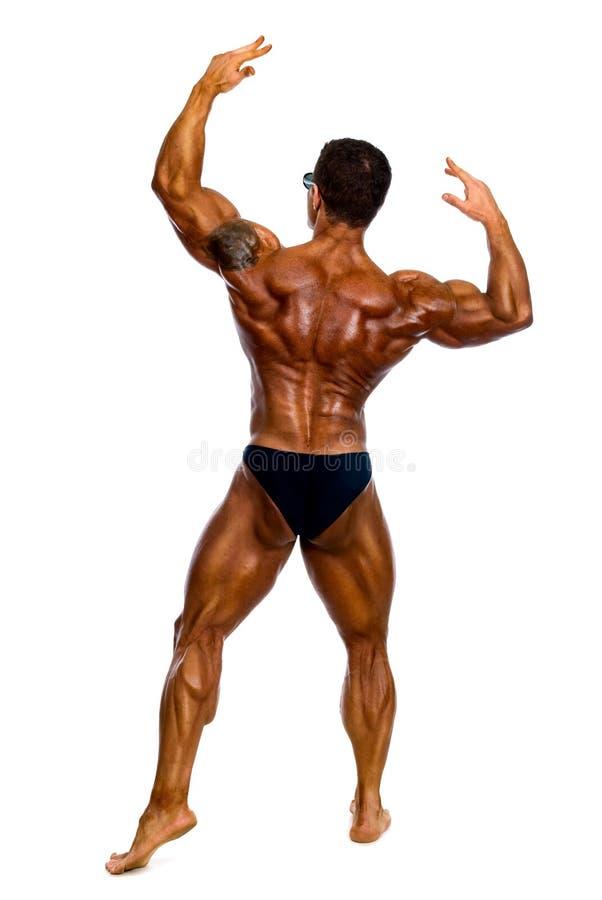 有吸引力的男性身体建造者 图库摄影