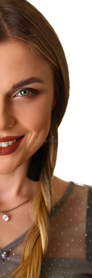 有吸引力的白种人女孩秀丽模型特写 库存照片