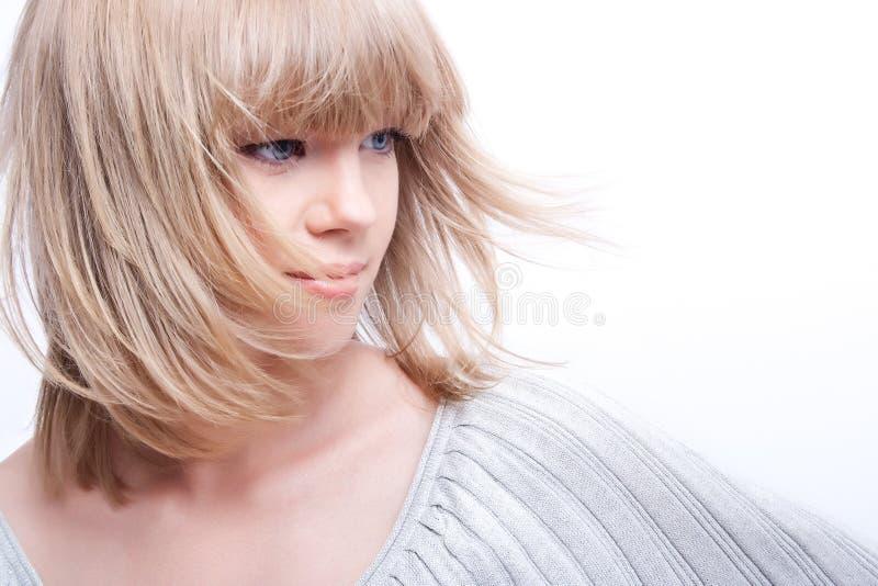 有吸引力的白肤金发的设计 库存照片