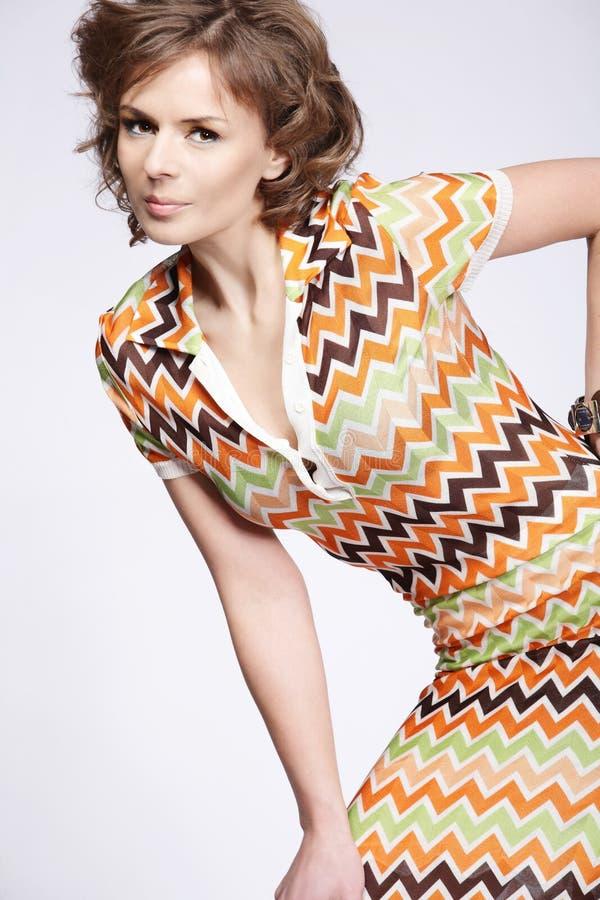 有吸引力的礼服夏天woma 库存照片