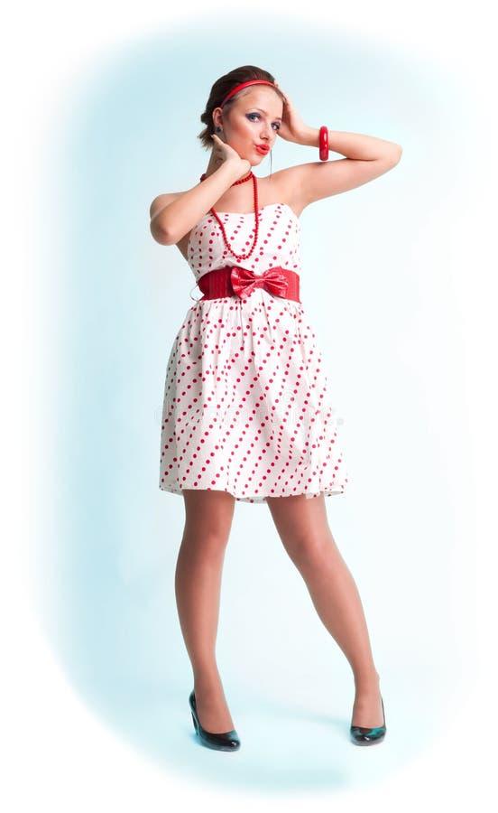 有吸引力的美好的女孩针样式 库存图片