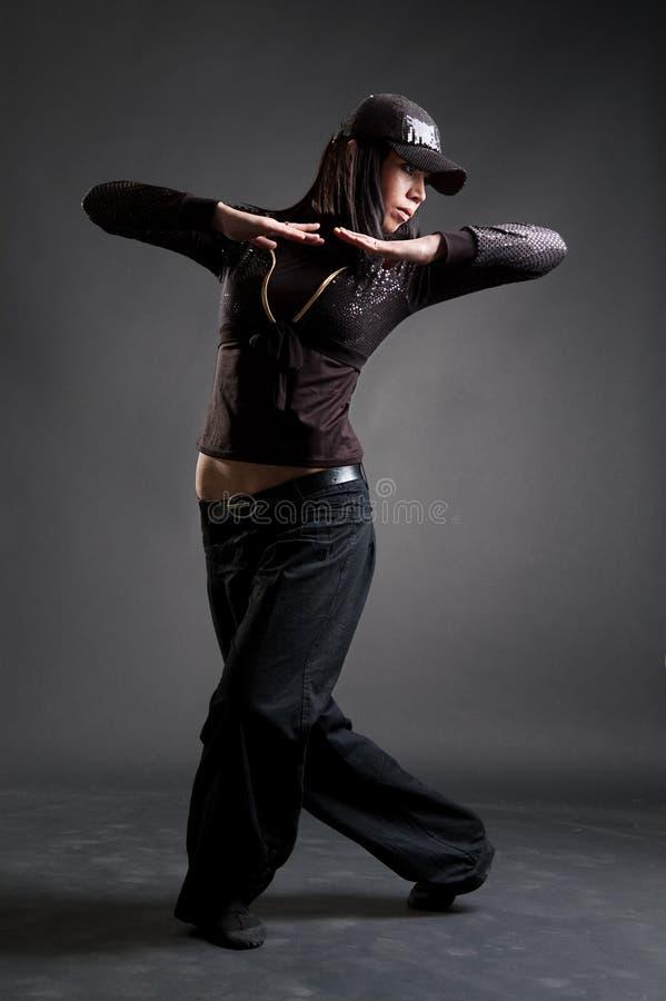 有吸引力的舞女Hip Hop 库存照片
