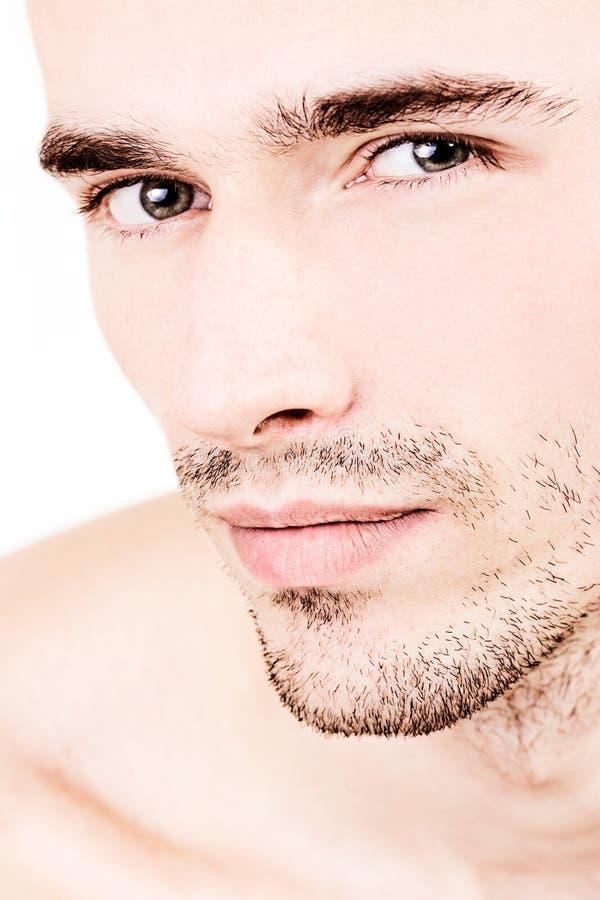 有吸引力的英俊的男性模型肖象 免版税库存照片