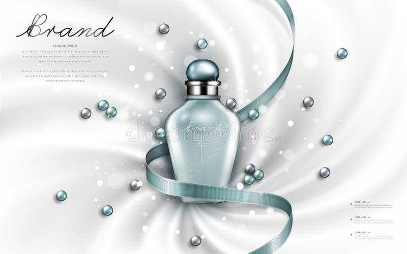 有吸引力的香水或化妆用品广告 皇族释放例证