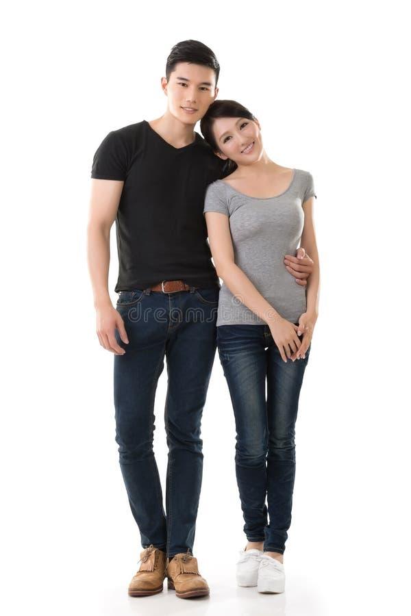 有吸引力的年轻亚洲夫妇 库存图片