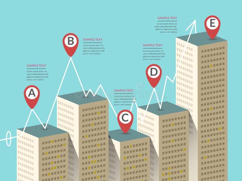 有吸引力的infographic设计 库存例证