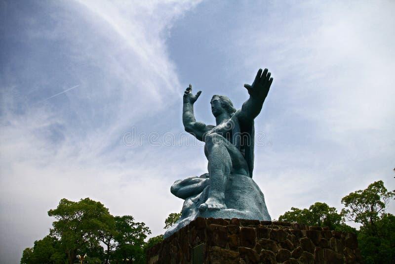 有和平雕象的和平公园 免版税库存图片