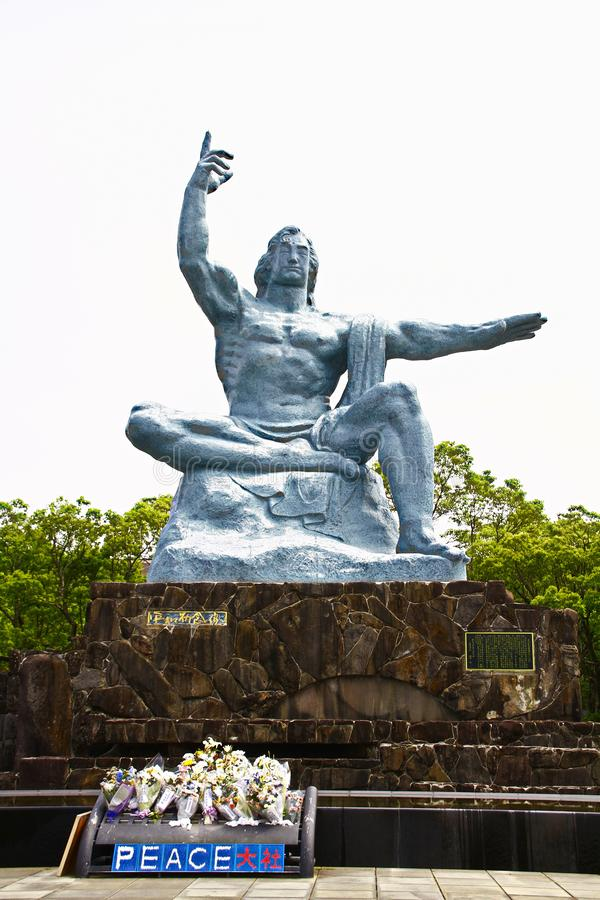 有和平雕象的和平公园 免版税库存照片
