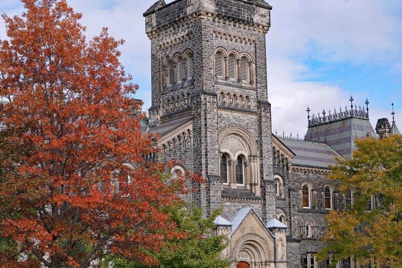 有哥特式建筑的大学 免版税库存照片
