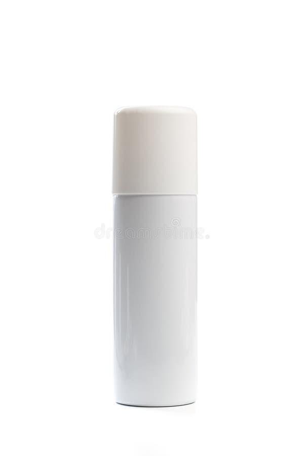 有喷雾器盖帽的金属瓶化妆用品的、香水、防臭剂或者清凉剂或者喷发剂 - ?? 库存例证