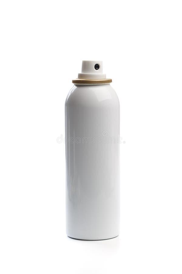 有喷雾器盖帽的金属瓶化妆用品的、香水、防臭剂或者清凉剂或者喷发剂 - ?? 免版税库存图片