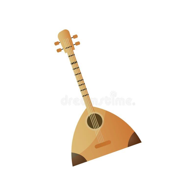 有四串俄式三弦琴的俄国木乐器 皇族释放例证