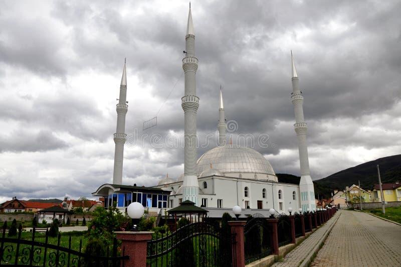 有四座尖塔的清真寺 库存照片