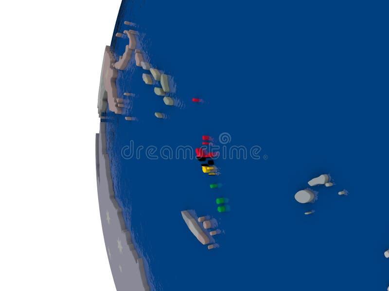 有国旗的瓦努阿图 皇族释放例证