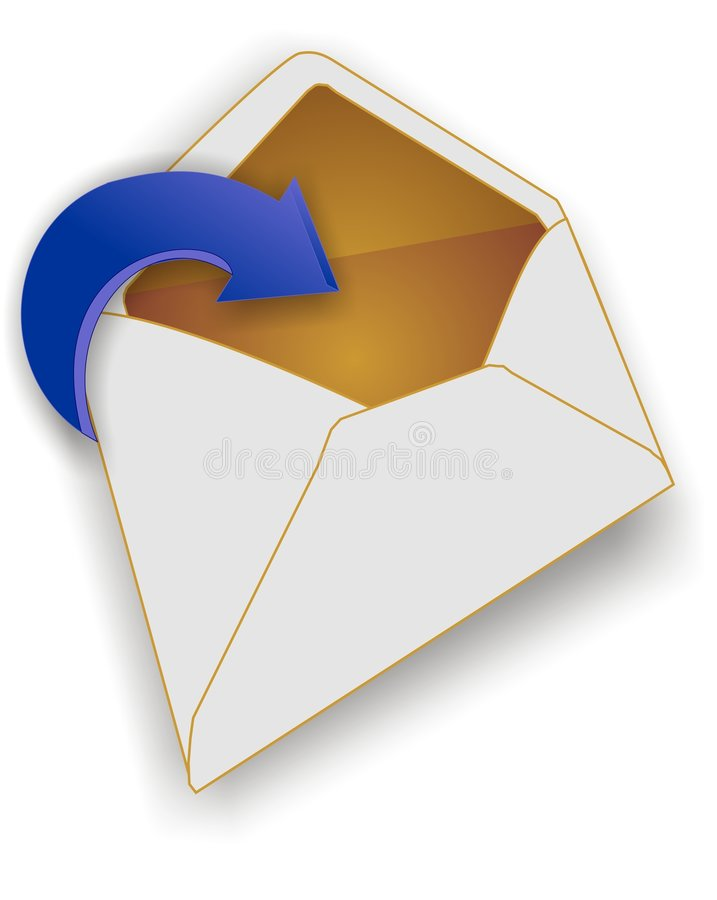 有图标邮件您 向量例证
