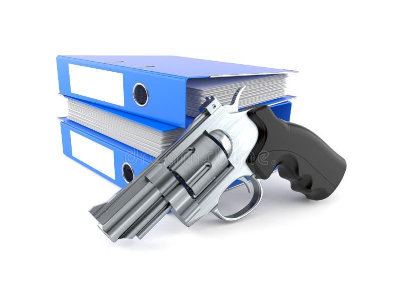 有圆环包扎工具的枪 皇族释放例证