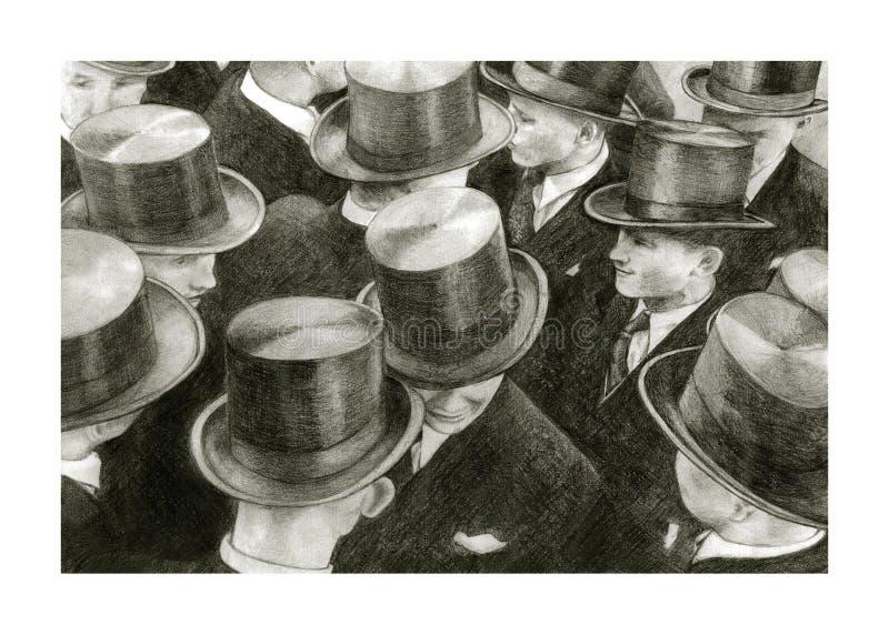 有圆筒的人 免版税库存照片