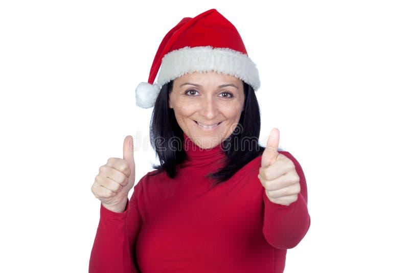 Download 有圣诞节帽子的说美丽的女孩好 库存照片. 图片 包括有 隔离, 红色, 人们, 颜色, 接受, 查出, 姿态 - 22353668