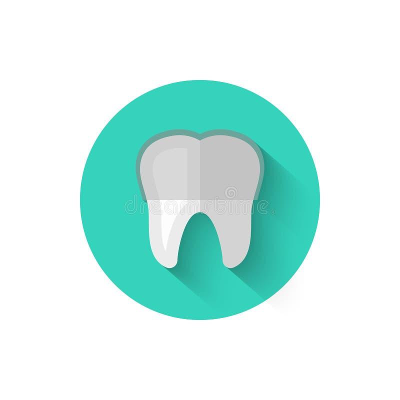有在平的设计样式传染媒介例证隔绝的括号象的牙 在题材的现代,最低纲领派象  向量例证