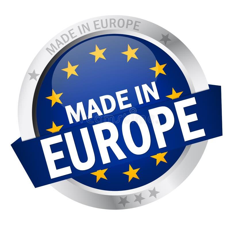 有在欧洲做的横幅的按钮 库存例证