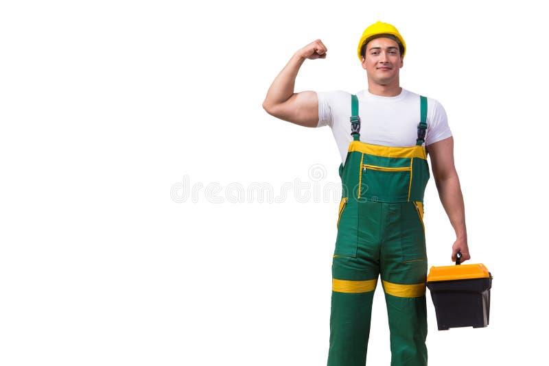Download 有在白色背景隔绝的工具箱的人 库存图片. 图片 包括有 案件, 管道工, 解决, 查出, 所有, 建筑, 木匠业 - 72365319