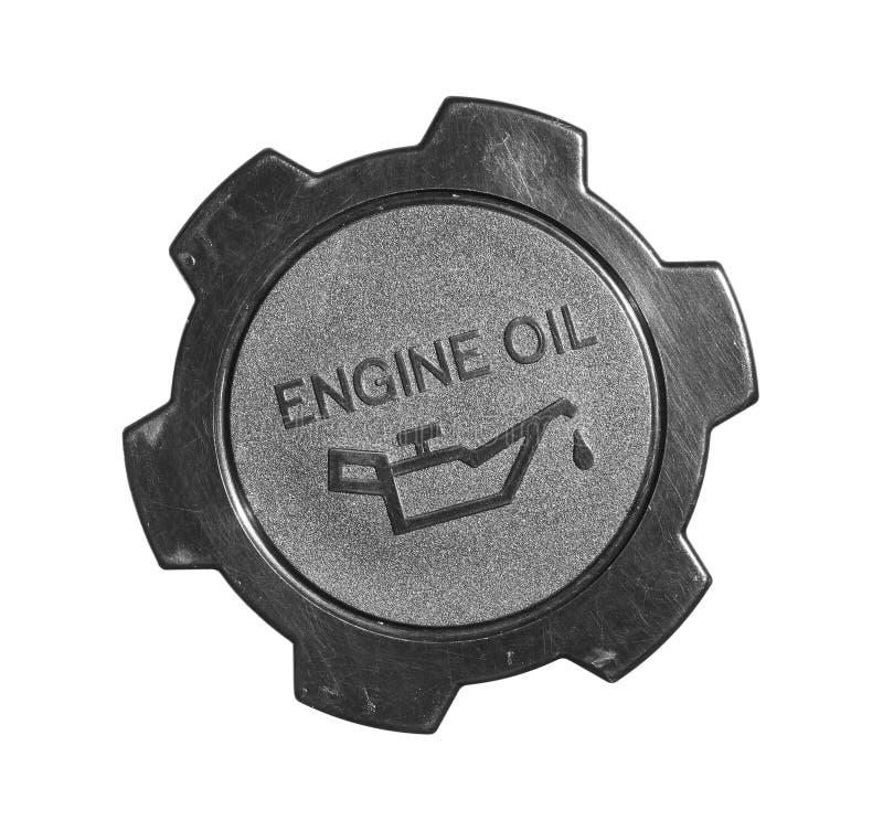 机器润滑油盖帽 免版税库存照片