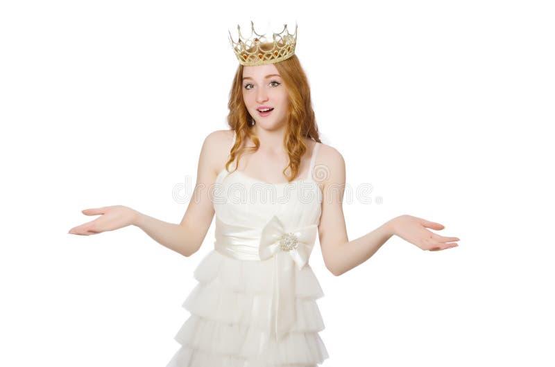 Download 有在白色隔绝的冠的妇女 库存照片. 图片 包括有 委托, 华美, 头发, 快乐, 迷住, 竞争, beautifuler - 72365886