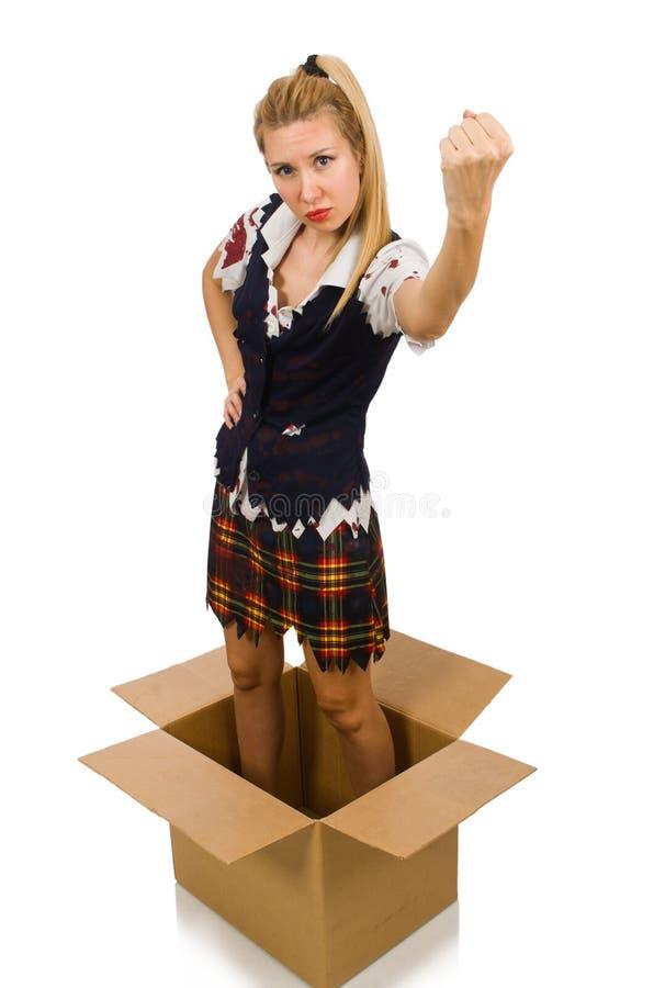 Download 有在白色隔绝的纸板箱的妇女 库存图片. 图片 包括有 职业, 激怒, 可笑, 藏品, 纸板, 容器, 运费 - 72358311