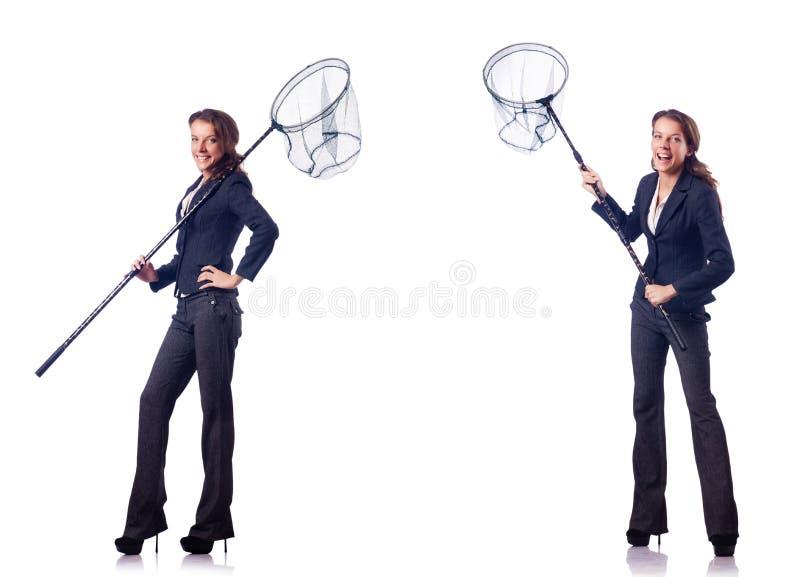 Download 有在白色隔绝的网的妇女 库存照片. 图片 包括有 乐趣, 商业, 执行委员, 着陆, 现有量, 女性, 拼贴画 - 72357354