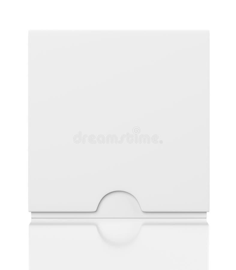 有在白色隔绝的幻灯片盖子的关闭框 向量例证